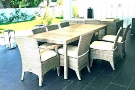8 seat outdoor dining set 8 person outdoor dining table dimensions height standard size round x
