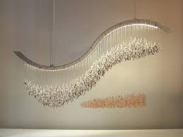 unique chandelier lighting. Lighting Inspiration In Creative Of Unique Modern Chandeliers Crashing Wave Swarovski Crystal Chandelier Water Pressure N