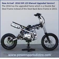 ssr sr125 manual pit dirt bikessr pit bike 125cc sr 125 free