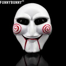 saw billy puppet costume source funnybunny saw jigsaw puppet face mask horror dress up