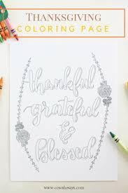 Free Printable Thankful Coloring Page She Liz