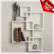 wall cube shelves white floating modern