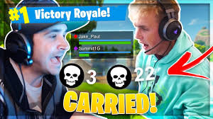 Image result for summit1g and jake paul play fortnite