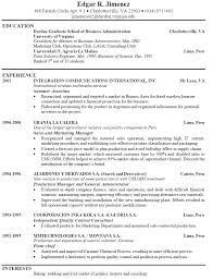 Resume Examples Templates Good Job Resume Examples For High