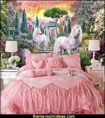 unicorn wall murals princess pink lace