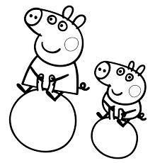 Giochi Da Colorare Peppa Pig E George Disegno