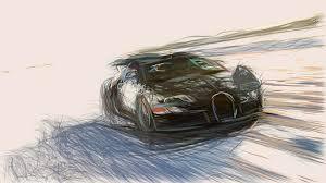1280 x 994 jpeg 189 кб. Bugatti Veyron 16 4 Grand Sport Draw Digital Art By Carstoon Concept