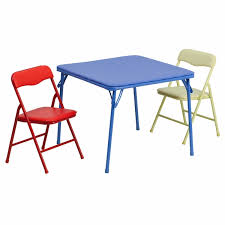 beautiful kids folding table and chairs set kids colorful 3 piece folding table and chair set