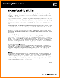 Cover Letter Transferable Skills Paulkmaloney Com