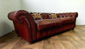 chestnut leather chair style grand brown chesterfield sofa tosoni