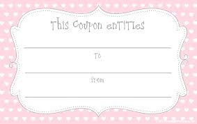 mothers day coupon valentine gift certificate template free