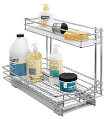 pull out under sink organizer chrome image