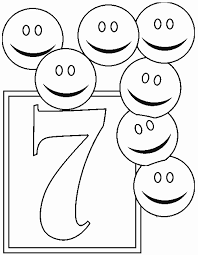 Small Picture Numbers 7 coloring page