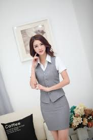 hot office pic. Hot Sale Elegant Grey Office Ladies Suits Vest And Skirt Summer Uniform Design Women Work Blazers Sets Outfits Plus Size-in From Women\u0027s Pic