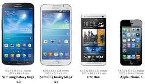 galaxy s4 screen size samsung galaxy mega size comparison note ii s4 iphone 5