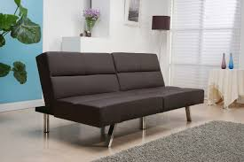 brown leather sofa bed. A Sofa Bed In Lighter Black Color Window With White Shutter Side Table Brown Leather B