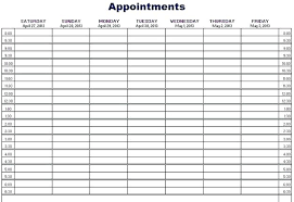 Appointment Calendars Free Weekly Appointment Calendar Template Elegant Free Printable