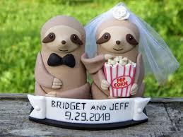 Sloth Wedding Cake Topper Personalized Sloth Sloth Figurine Etsy