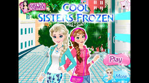 free cool frozen sisters dress up games princess games for s