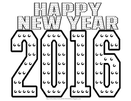 Small Picture Coloring Pages 2016 New Year