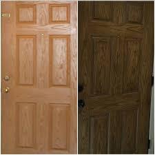 fiberglass door in antique walnut gel