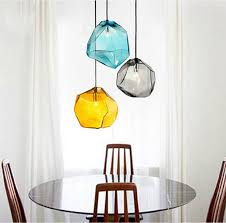 pendant glass lighting. Modern Design Candy Color Ice Glass Hanging Lighting Ceiling Lamp Cafe Bar Store Hall Dining Room Restaurant Pendant Light-in Lights From