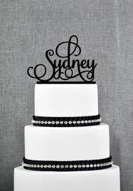 Scripted Name Cake Topper Quinceanera Cake Topper Birthday Cake