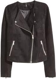 suede biker jackets h m biker jacket
