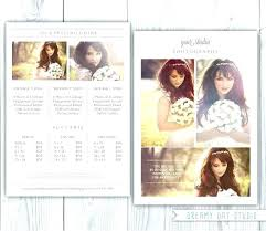Photography Pricing Template Photography Package Pricing Template Photography Pricing Ate Wedding