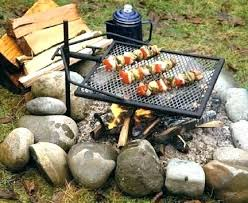 outdoor fire pit cooking grill fresh with grate campfire find round mesh lowe