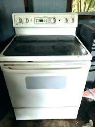 glass top stoves full for white stove cleaner whirlpool kenmore manual book electric