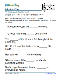 5Th Grade Worksheets Language Arts Worksheets for all | Download ...