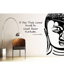 decor kafe decal style buddha wall sticker