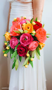 Paper Flower Bouquet Tutorial Crepe Paper Neon Wedding Bouquet Lia Griffith