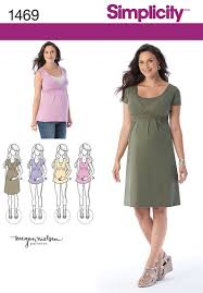 Maternity Patterns Adorable Simplicity 48 Maternity And Nursing Knit Top Or Dress