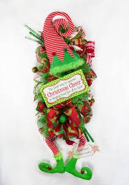 Elf Wreath, Elf Door Swag, Elf Legs Decor, Christmas Swag, Holiday Swag