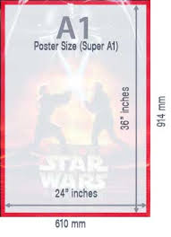 standard size posters a1 poster size