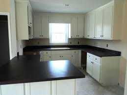painting formica countertops white single hung clear glass recessed panel l shaped conventional cabinets black laminate