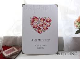 wedding book cover template personalized signature wedding guest book