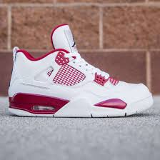 jordan 4 retro. air jordan 4 retro - alternate men (white / black gym red)