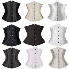 Plus Size Women Underbust Corset Boned Waist Training Belt Lace Up Top Shaper