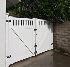vinyl fence with metal gate. Vinyl Double Gate With Accents Fence Metal O