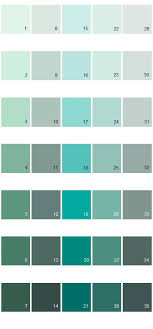 Behr Paint Colors - Colorsmart Palette 24:... 3) 480C-3 Aqua Bay ...