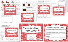 Valentine's Day Math Pack {Graphing, Fractions, Multiplication ...