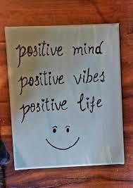Esprit Positif Positive Vibes Positive Vie Citation Vie Citations Acrylique Peinture Toile Devise Art Du Jour