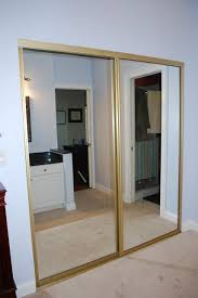 mirror closet doors. Exellent Closet Spray Paint The Brass On Mirror Closet Doors Karau0027s Korner Closet  Part 2  Door Makeover Throughout Mirror Doors