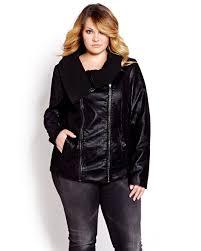 l l faux leather jacket