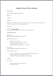 Sample Resume For A Driver Cdl Truck Driver Job Description For