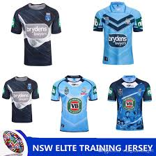 nrl national rugby league nsw state of origin 2018 elite training tee light blue nsw soo 2018 jersey queensland maroons nsw rl holden rugby new zealand