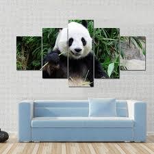on giant panda wall art with panda wall art multi panel panda wall decal for room decor tiaracle